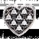 Hạt charm DIY PNJSilver hình trái tim