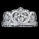 Nhẫn bạc hình vương miện PNJSilver My Princess đính đá 13563.100
