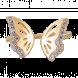 Nhẫn bạc hình con bướm PNJSilver Amazing Garden đính đá