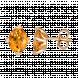 Bông tai PNJ Vàng 18K đính đá Citrine 70211.600