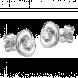 Bông tai kim cương PNJ vàng trắng 14K