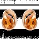 Bông tai PNJ vàng trắng 18K đính đá Citrine