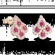 Bông tai PNJ Phượng Hoàng Vàng 18K đính đá Ruby 82007.600
