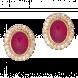 Bông tai PNJ Vàng 18K đính đá Ruby