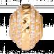 Hạt Charm Me PNJ vàng Ý 18K hình dẹt tròn đính đá