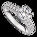 Nhẫn Vàng trắng 10K đính đá ECZ Swarovski PNJ XMXMW000109