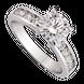 Nhẫn Vàng trắng 10K đính đá ECZ Swarovski PNJ XMXMW000112