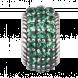 Hạt charm DIY PNJSilver hình tròn đính hạt màu xanh lá