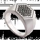 Nhẫn bạc nam PNJSilver My Man đính đá màu đen 13721.403