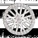 Hạt Charm Me PNJ Vàng Trắng Ý 18K đính đá 93085.100