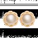 Bông tai PNJ vàng 18K đính ngọc trai South sea 90251.303