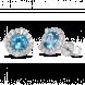 Bông tai PNJ Vàng trắng 14K đính đá Topaz 70591.600