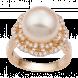 Nhẫn PNJ Vàng 18K Đính Ngọc trai South Sea 90253.303
