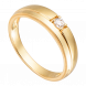 Nhẫn Cưới Nam PNJ Vàng 18K đính đá ECZ Swarovski 92002.100