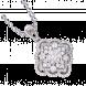 Mặt dây chuyền Kim cương PNJ Vàng trắng 14K 82293.513