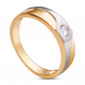 Nhẫn cưới nam PNJ Chung Đôi Vàng 18K đính đá ECZ Swarovski 82562.102