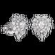 Bông tai bạc PNJSilver Retro Forest đính đá 92373.100
