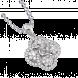 Vỏ mặt dây chuyền Kim cương PNJ Vàng trắng 18K 81530.5A0