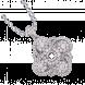 Vỏ mặt dây chuyền Kim cương PNJ Vàng trắng 18K 81649.5A0