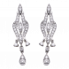 Bông tai Kim cương PNJ Vàng trắng 14K 81140.503