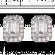Bông tai PNJ vàng trắng 10K đính đá ECZ Swarovski 94955.100