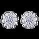 Bông tai PNJ vàng trắng 10K đính đá ECZ Swarovski 95871.100