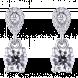 Bông tai PNJ Vàng trắng 10K đính đá ECZ Swarovski 95874.100