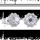 Bông tai PNJ Vàng trắng 10K đính đá ECZ Swarovski 95877.100