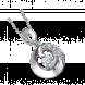 Mặt dây chuyền Kim cương PNJ Vàng trắng 14K 74670.500