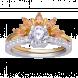Nhẫn PNJ Vàng 10K đính đá màu vàng 95883.400