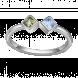 Nhẫn PNJ 3Wishes Vàng trắng 10K mix đá Liquid Cabochon Swarovski 94627.400