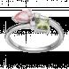 Nhẫn PNJ 3Wishes Vàng trắng 10K mix đá Liquid Cabochon Swarovski 94641.400
