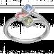 Nhẫn PNJ 3Wishes Vàng trắng 10K mix đá Liquid Cabochon Swarovski 94647.400