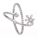 Nhẫn PNJ Vàng trắng 10K đính đá ECZ Swarovski 95338.100