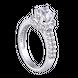 Nhẫn PNJ Vàng trắng 10K đính đá ECZ Swarovski 95872.100