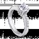 Nhẫn PNJ Vàng trắng 10K đính đá ECZ Swarovski 95875.100