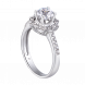 Nhẫn PNJ Vàng trắng 10K đính đá ECZ Swarovski 95878.100