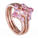 Nhẫn PNJ 3Wishes Vàng 10K mix đá Liquid Cabochon Swarovski 95017.400