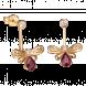 Bông tai PNJ Sắc Xuân vàng 18K đính đá Ruby