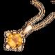 Mặt dây chuyền PNJ Vàng 18K đính đá Citrine 70568.600