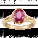 Nhẫn PNJ vàng 18K đính đá Ruby 70091.600