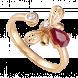 Nhẫn PNJ Sắc Xuân vàng 18K đính đá Ruby