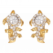 Bông tai PNJ Mystery Vàng 10K đính đá ECZ Swarovski 87715.100