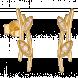 Bông tai PNJ Mystery Vàng 10K đính đá ECZ Swarovski 87611.100