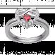 Nhẫn bạc PNJSilver Fantasia đính đá màu đỏ 92626.404