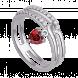 Nhẫn bạc PNJSilver Fantasia đính đá màu đỏ 92630.404