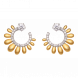 Bông tai PNJ Sunflower vàng 10K đính đá Suncut Swarovski 97429.100
