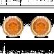 Bông tai PNJ Vàng 18K đính đá Citrine 58088.601