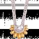Dây cổ PNJ Sunflower vàng 10K đính đá Suncut Swarovski 97430.100