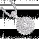Mặt dây chuyền PNJ vàng trắng 10K đính đá Swarovski 97496.100